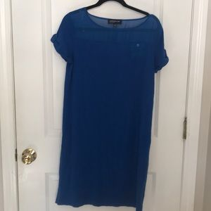Jones New York t-shirt dress w/ sheer shoulder